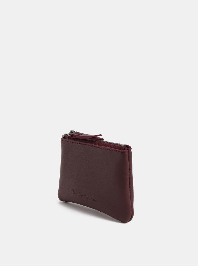 Vínová malá peňaženka na mince Claudia Canova Parry