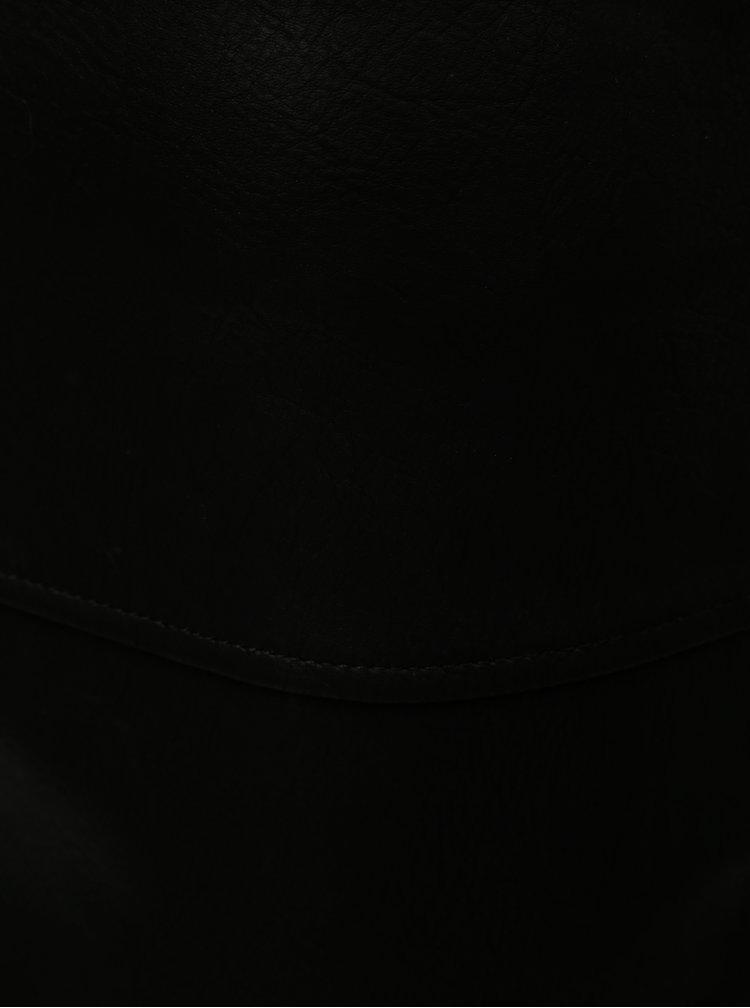 Čierna koženková sukňa Noisy May Allan