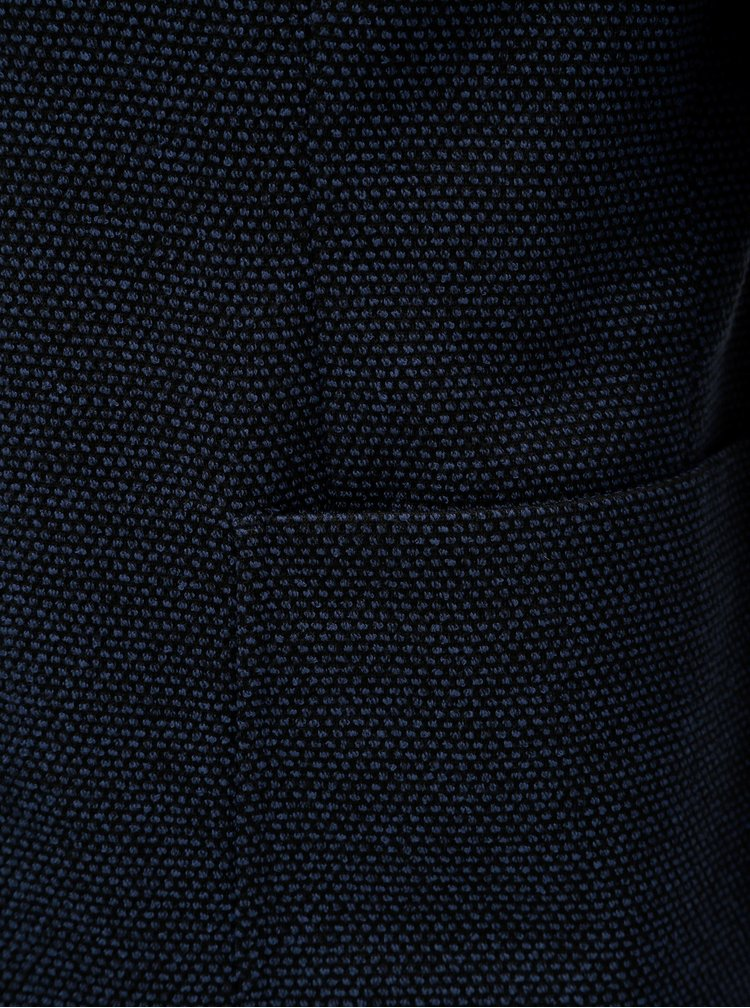 Tmavomodré sako s drobným vzorom Jack & Jones Liam