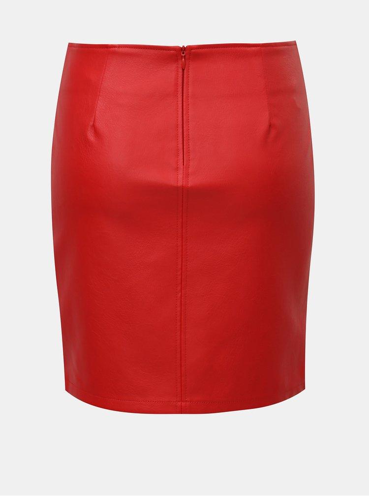 Červená koženková sukňa Noisy May Allan