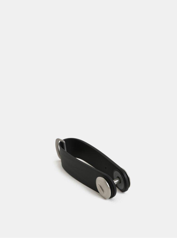 Černá gumová klíčenka Orbitkey