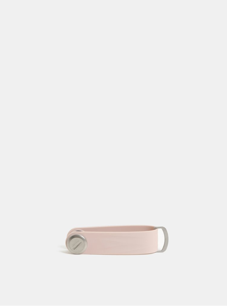 Růžová dámská gumová klíčenka Orbitkey