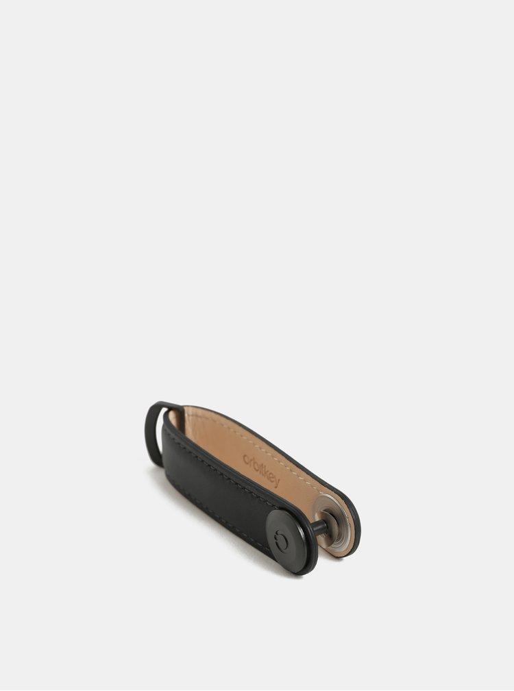 Černá kožená klíčenka Orbitkey
