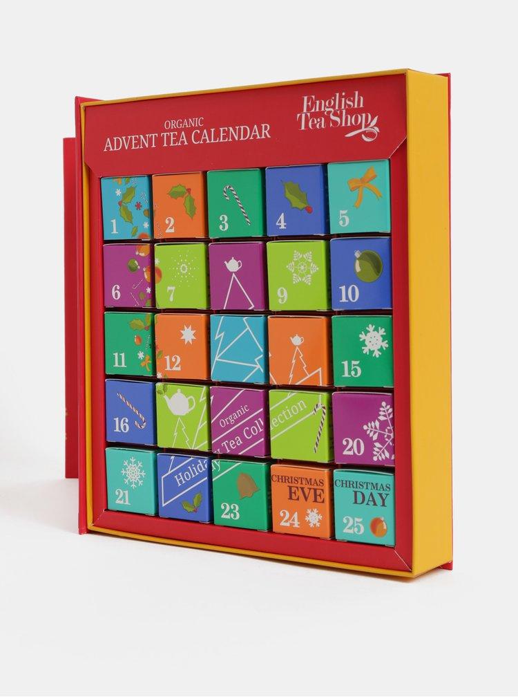 Calendar de advent rosu cu ceai English Tea Shop