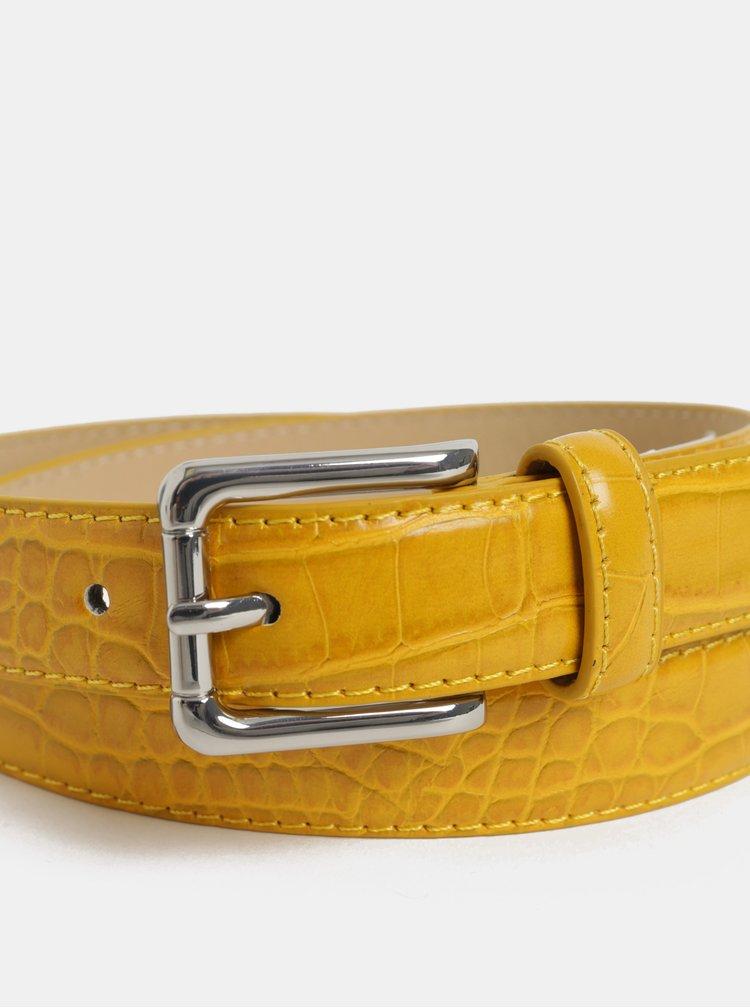 Žlutý vzorovaný pásek Pieces Joan