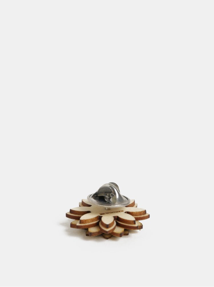 Dřevěná brož ve tvaru květiny BeWooden Bellis Flower