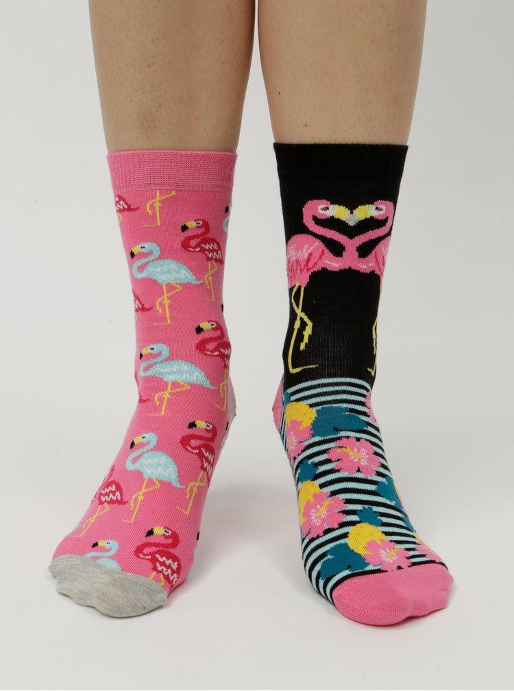 Sada tří unisex vzorovaných ponožek v modro-růžové barvě Oddsocks Martha