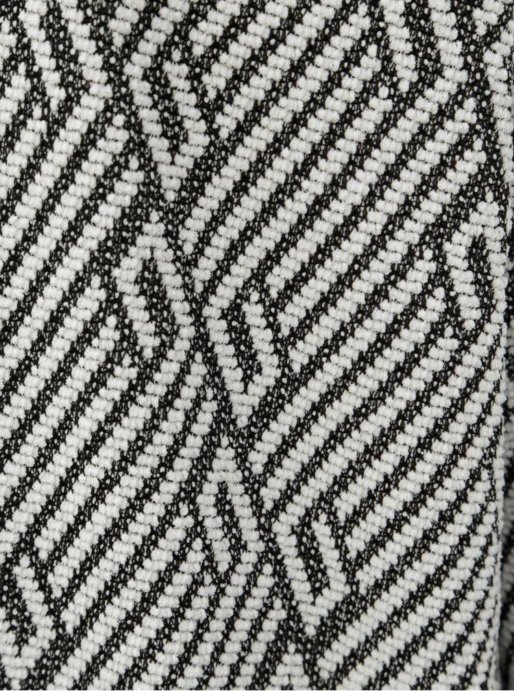 Černo-bílý vzorovaný kardigan ONLY Nette