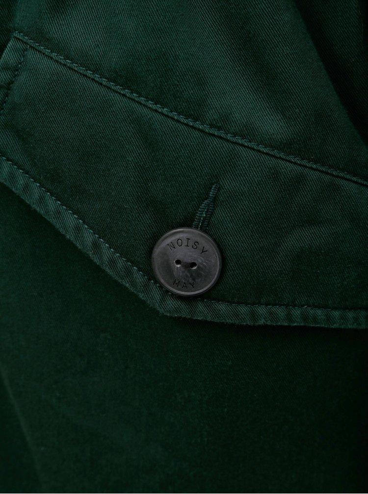 Geaca parka verde inchis cu blana artificiala detasabila pe gluga Noisy May Katie