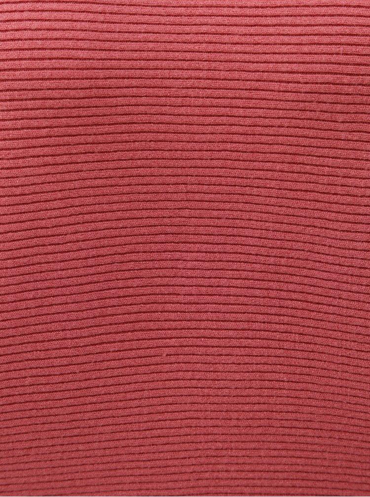 Pulover roz scurt lejer cu maneci liliac ONLY Vita