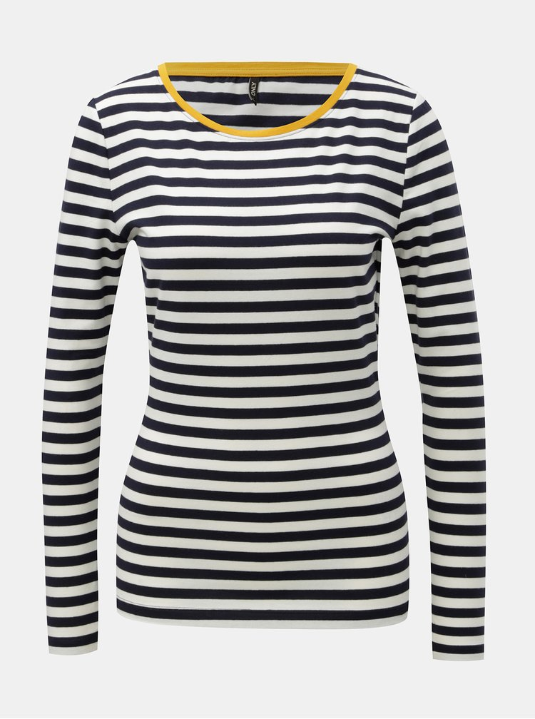 Bílo-modré pruhované tričko ONLY Fifi