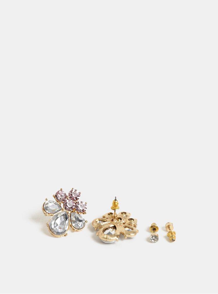 Set de 2 perechi de cercei argintii cu pietre ONLY Lea