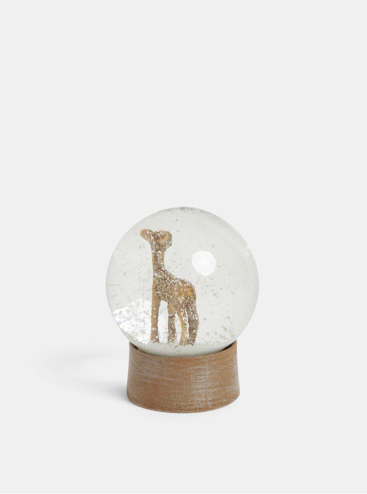 Glob de zapada maro cu motiv caprioara Sass & Belle Glitzy Gold Deer