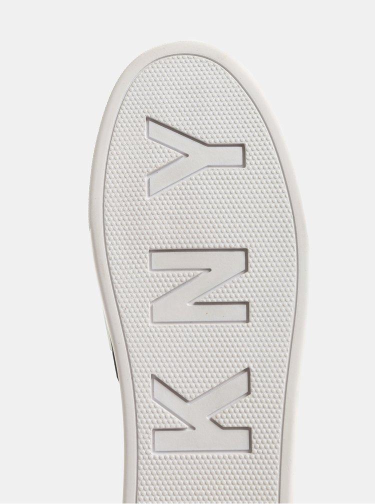 Čierne kožené slip on na platforme DKNY Alicia