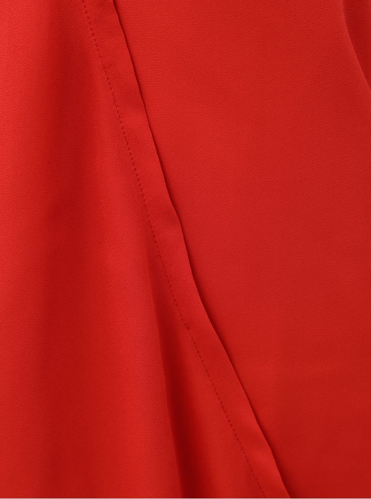 Červená halenka s překládaným předním dílem ONLY Palma