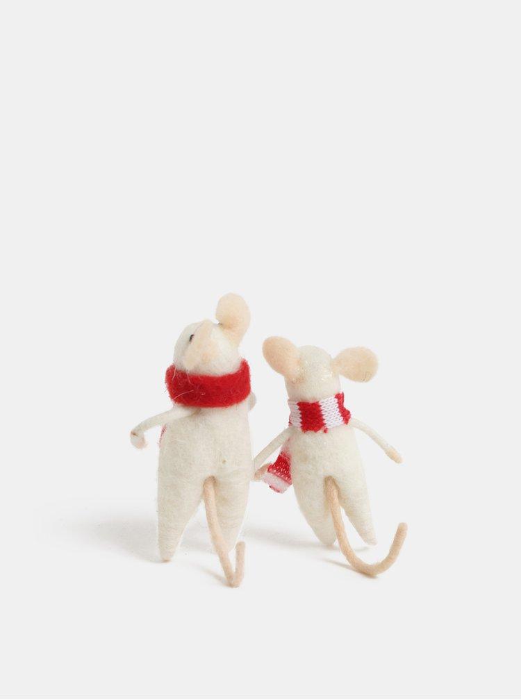 Vánoční dekorace ve tvaru dvou myší Sass & Belle Family Christmas Mice