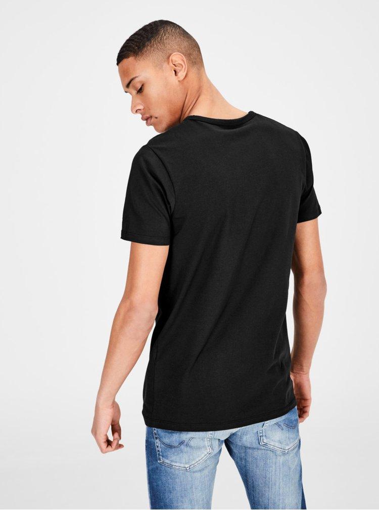 Černé basic tričko Jack & Jones Basic