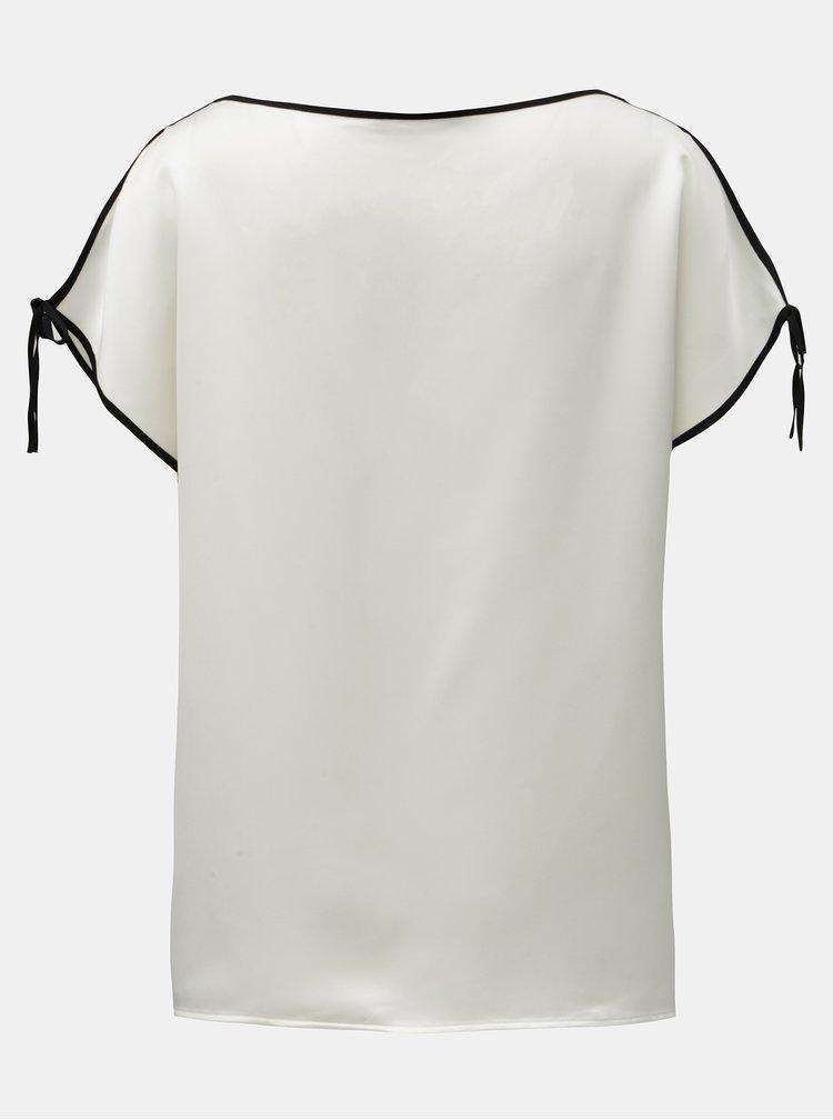 Bluza crem cu decupaj pe maneci DKNY