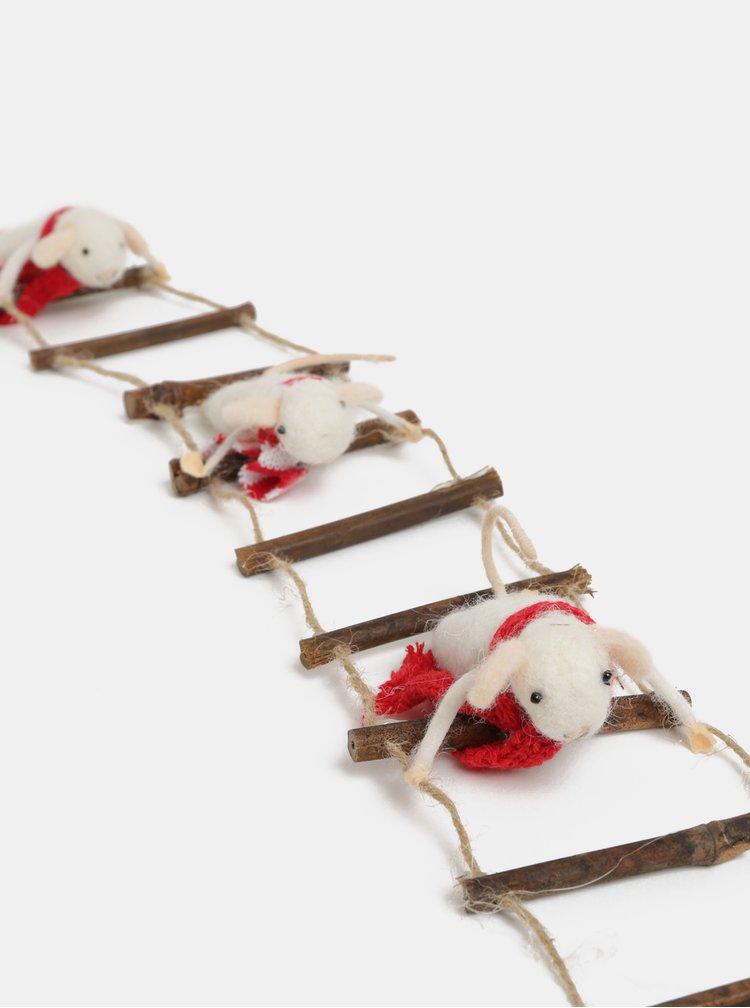 Vánoční závěsná dekorace s myškami Sass & Belle Ladder Climbing Mice