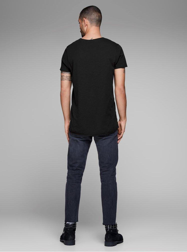 Černé basic tričko Jack & Jones Bas