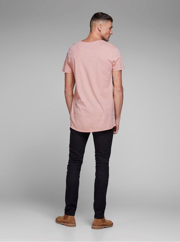 Tricou roz Jack & Jones Bas