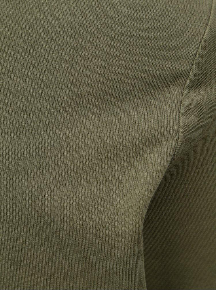 Khaki lehká mikina s dlouhým rukávem Jack & Jones Holmen