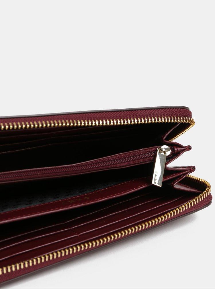Vínová kožená peněženka DKNY Bryant