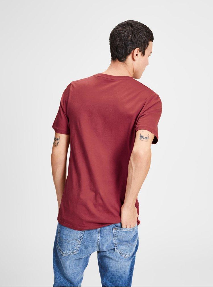 Červené tričko s potiskem Jack & Jones Logo Tee