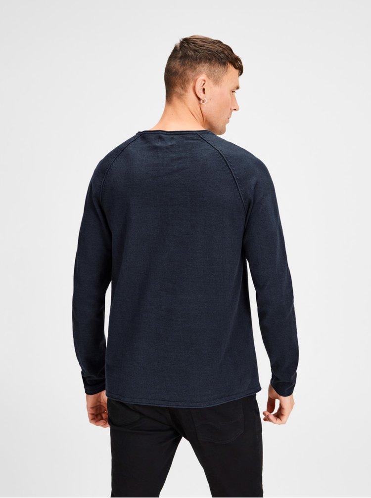 Tmavě modrý basic svetr Jack & Jones Union