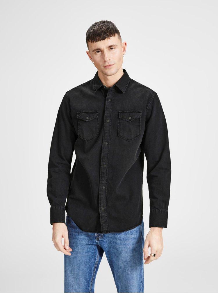 Černá džínová košile Jack & Jones