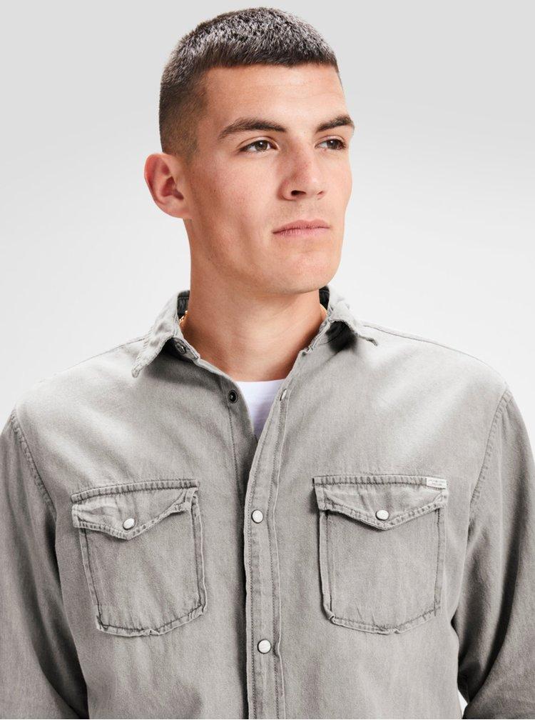 Šedá džínová košile Jack & Jones