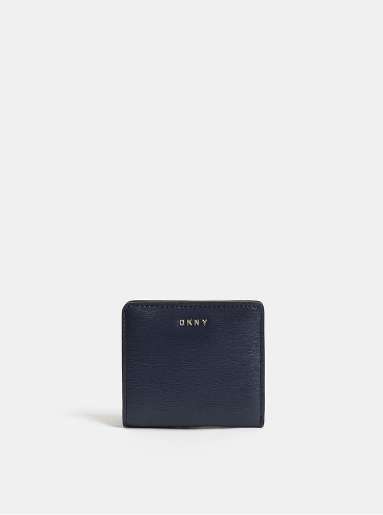 Tmavě modrá kožená malá peněženka DKNY Bryant