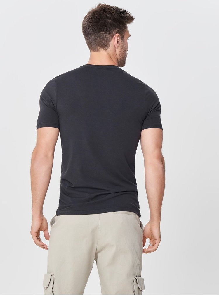 Tricou basic negru - ONLY & SONS Basic
