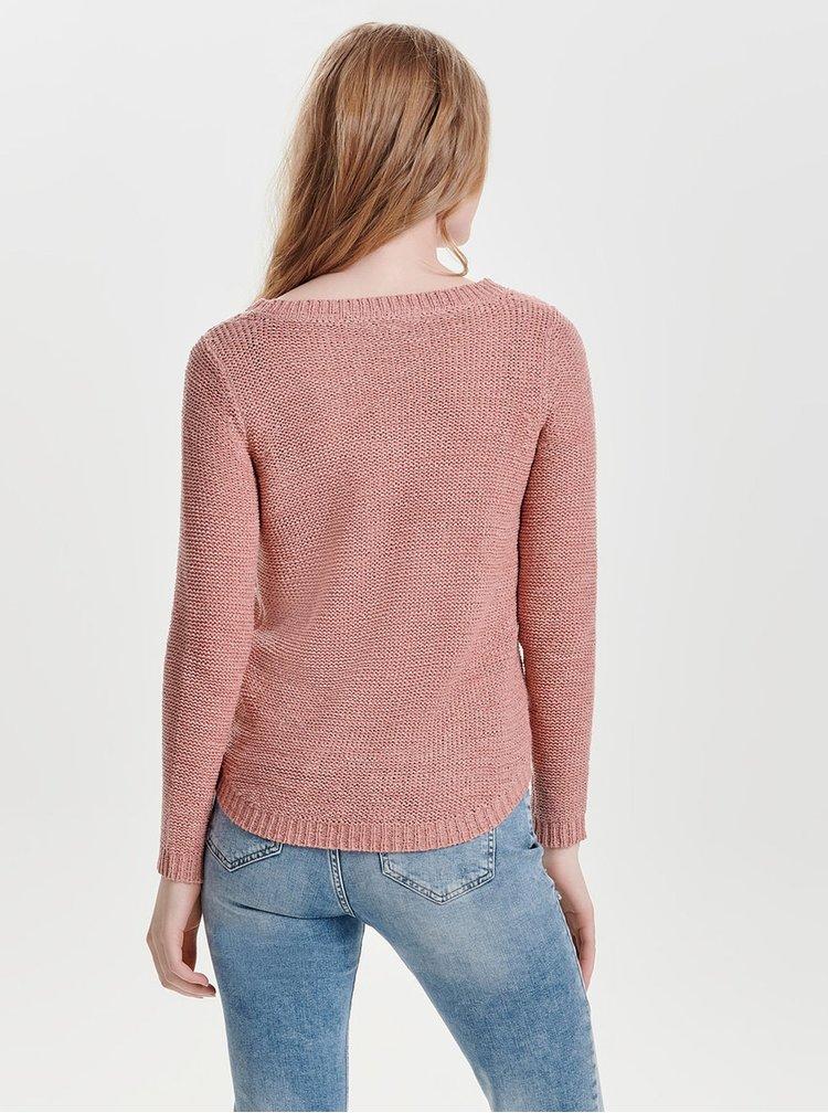 Cihlový pletený svetr ONLY Geena