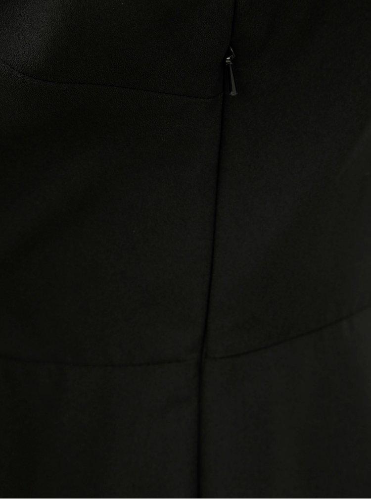 Černý krátký overal s překládanou přední částí Dorothy Perkins