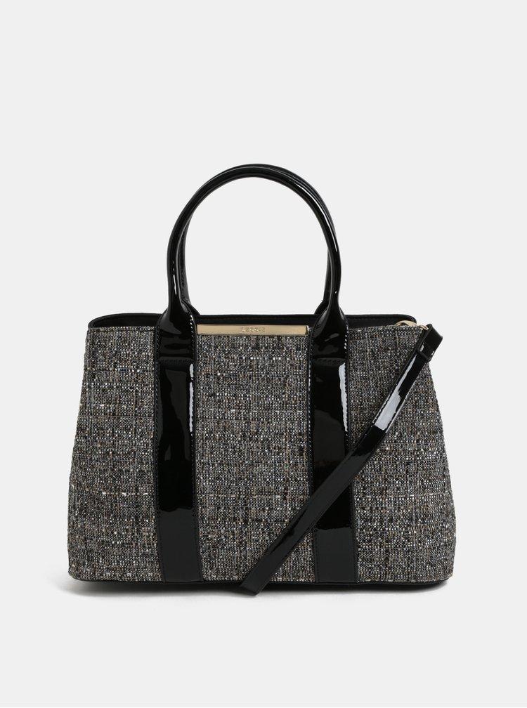 Čierna vzorovaná kabelka Bessie London