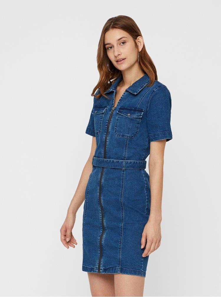 Modré džínové šaty Noisy May