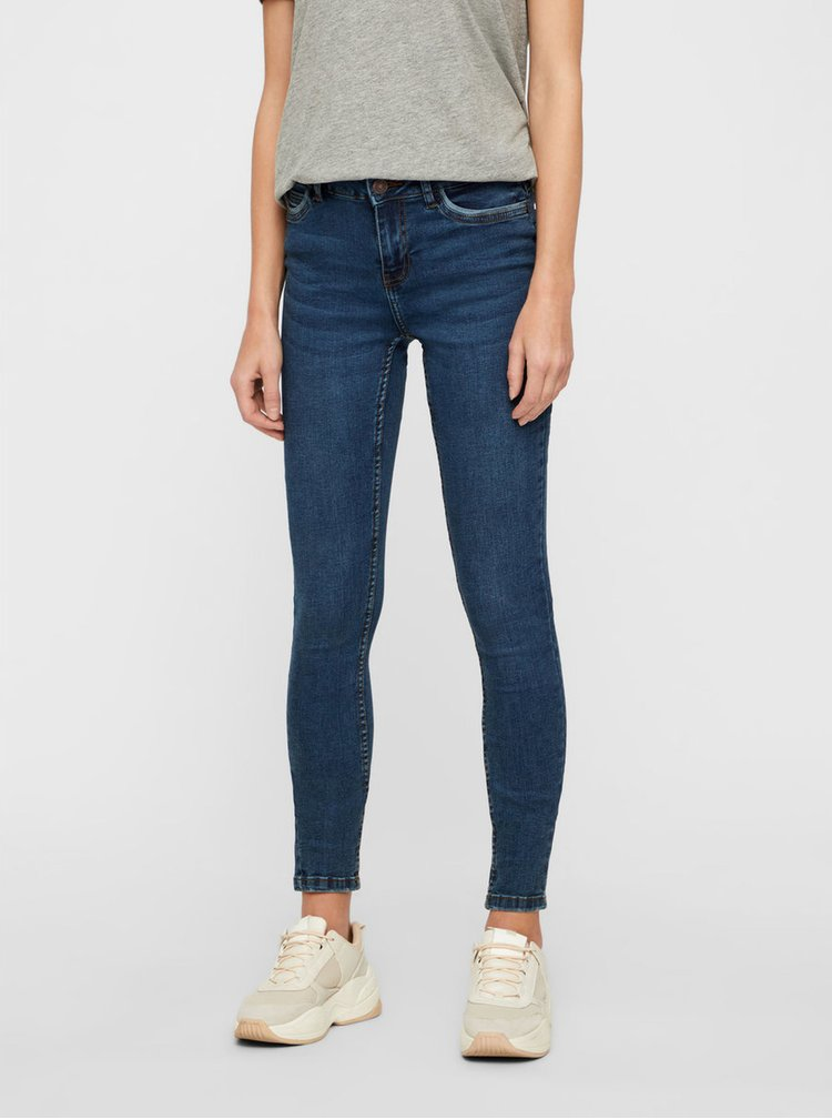 Blugi albastri skinny fit din denim Noisy May Lucy