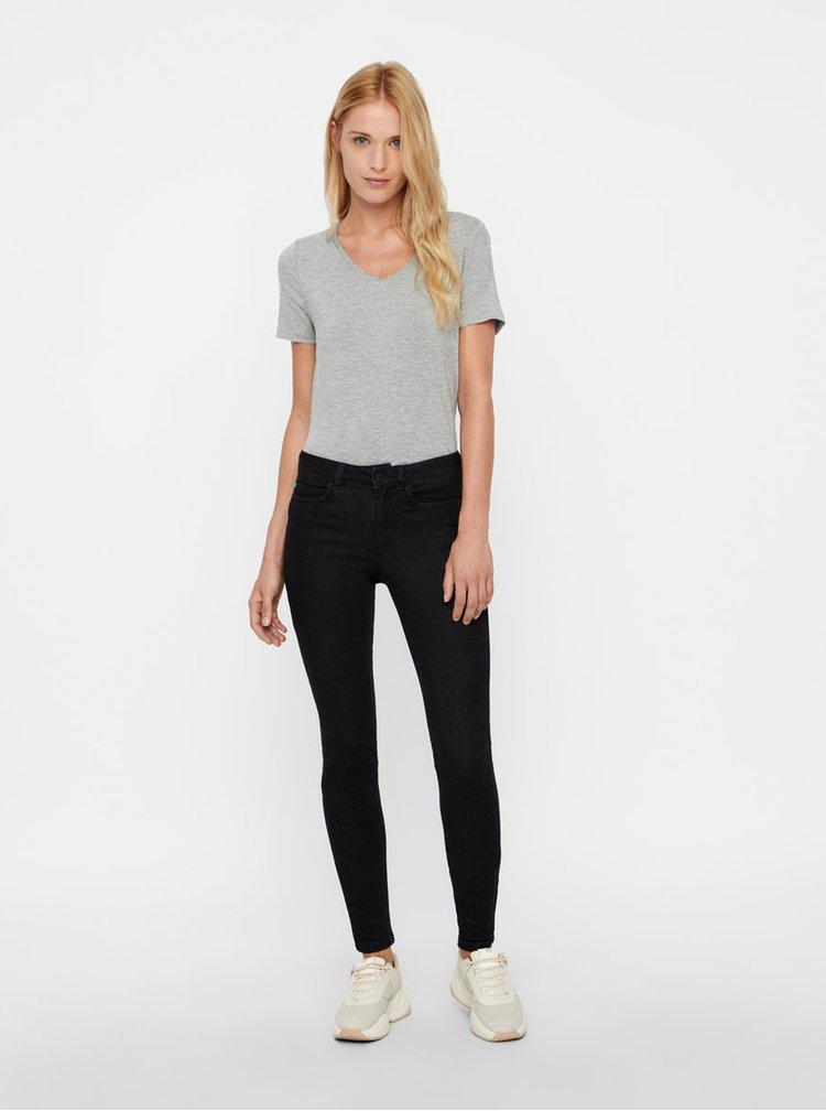 Černé skinny fit džíny Noisy May Lucy