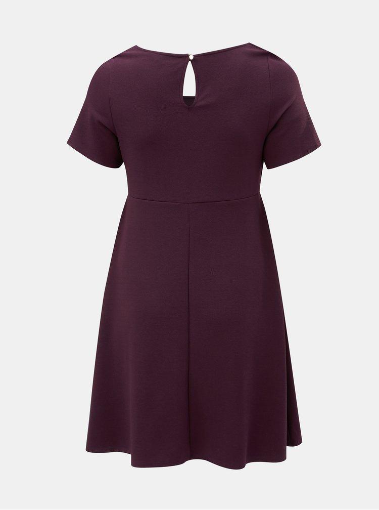Fialové šaty s hranatým výstřihem Dorothy Perkins Curve