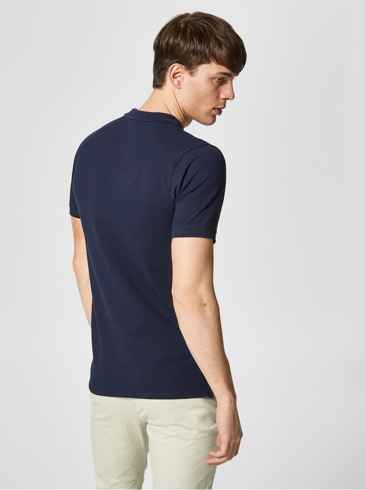 Tricou polo bleumarin - Selected Homme Haro