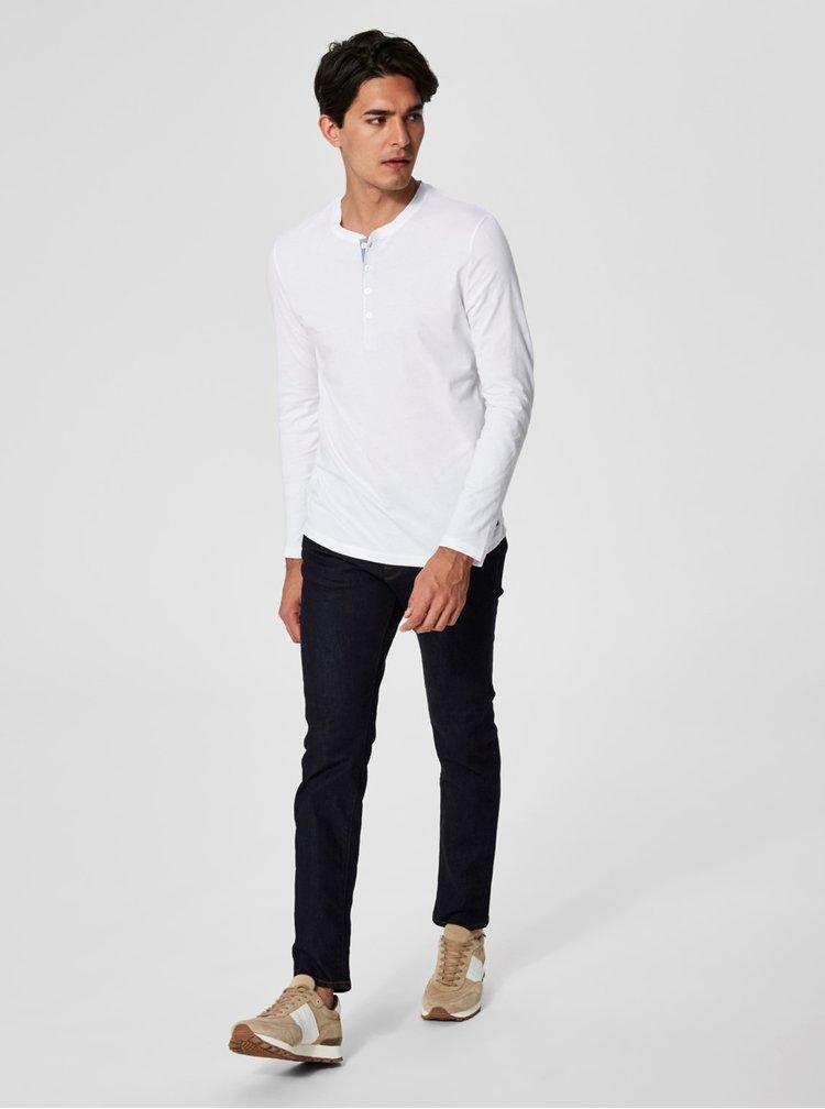 Bílé tričko s dlouhým rukávem Selected Homme Niklas