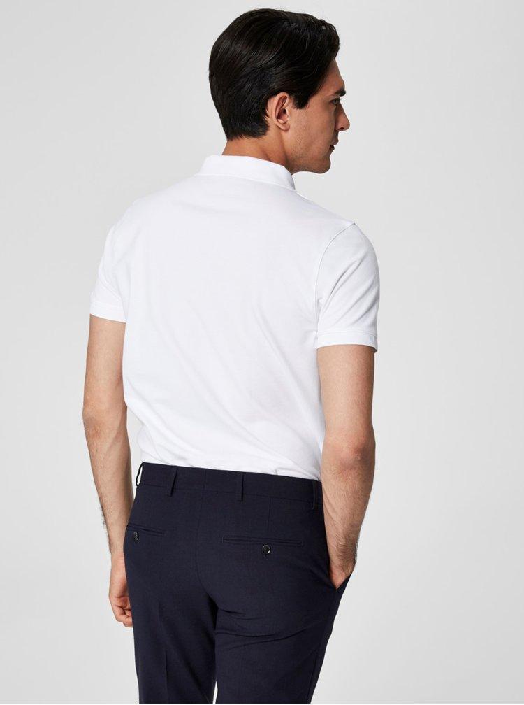 Bílé polo tričko Selected Homme Damon