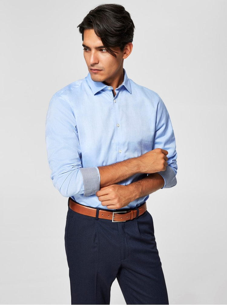 Camasa bleu slim fit din bumbac - Selected Homme One New