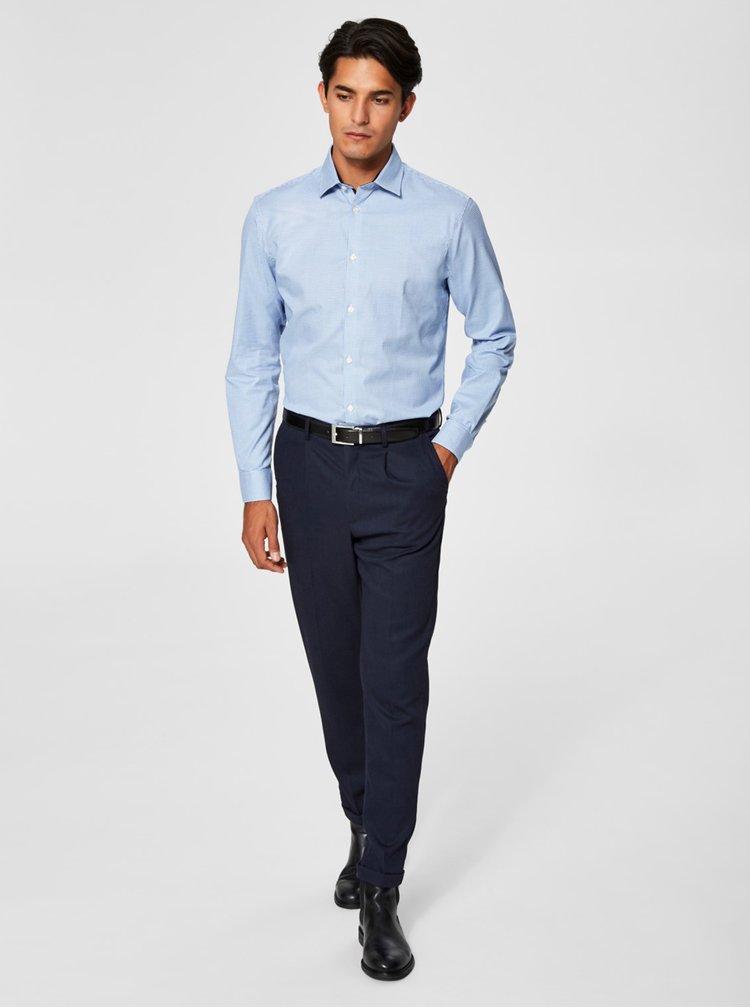 Camasa cu model pepit albastru Selected Homme One New