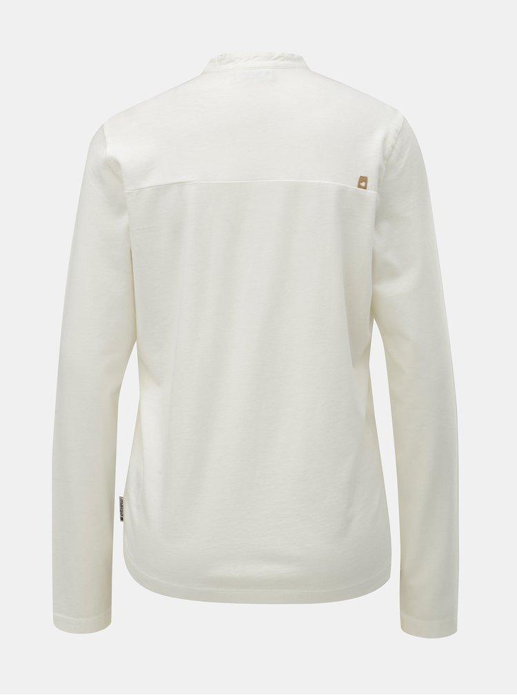 Krémové dámske tričko s gombíkmi a dlhým rukávom Maloja Vauglia