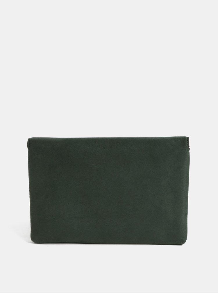 Zelená listová kabelka v semišovej úprave so strapcom Dorothy Perkins