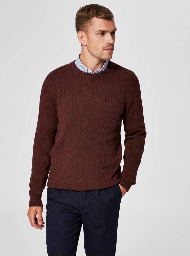 Hnedý sveter Selected Homme Clayton