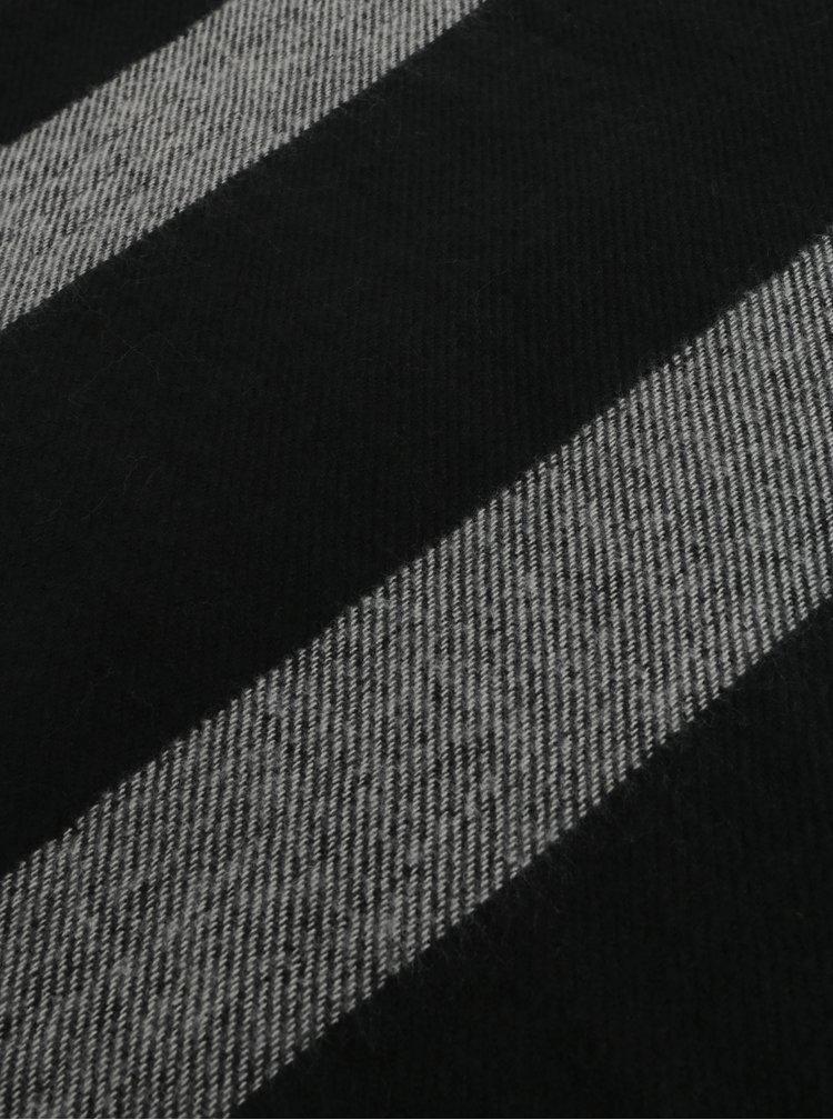 Šedo-černá šála s gepardím vzorem Dorothy Perkins