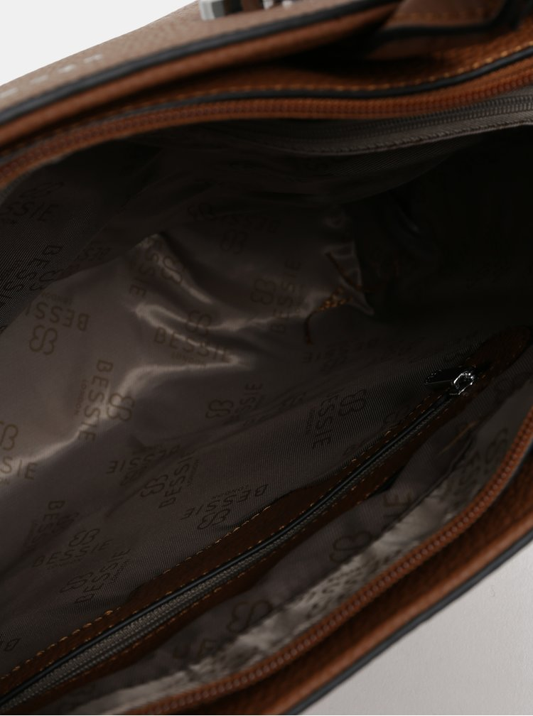 Geanta maro cu detalii argintii Bessie London